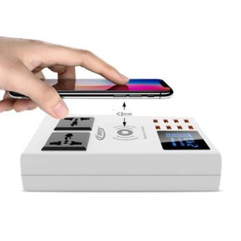 Wireless Multi-functional 8 Ports USB Hub With 2 Sockets from Crony