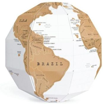 3D SCRATCH GLOBE SCRATCH OFF WORLD MAP