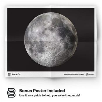 BETTERCO. FULL MOON ROUND PUZZLE 500 PIECES